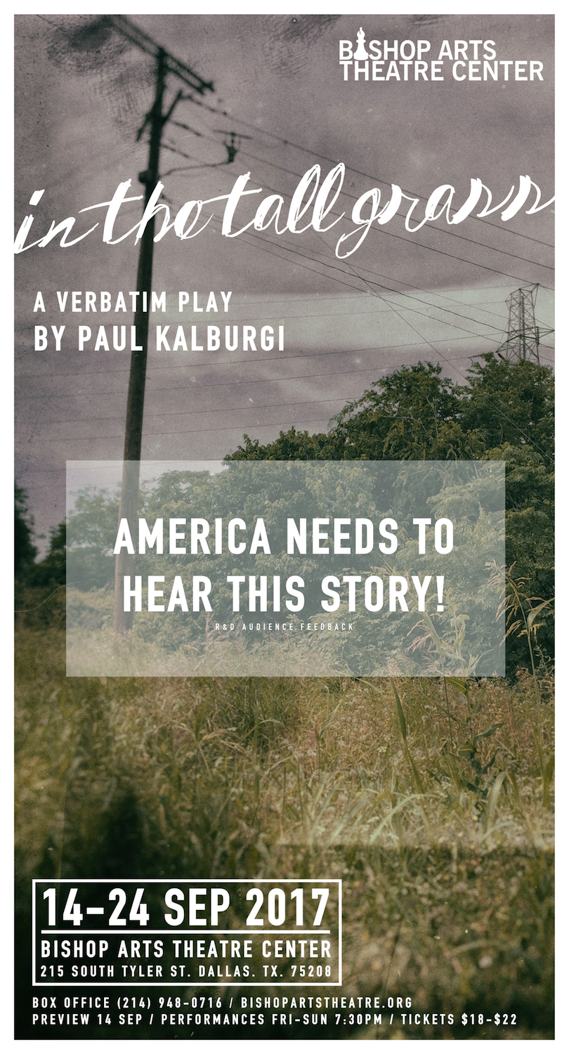 In The Tall Grass by Paul Kalburgi, a world premiere